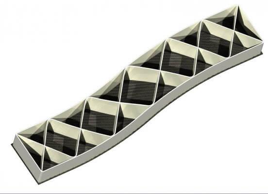3D-gedrucktes Beispielbauteil