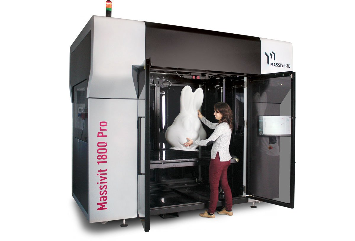 MASSIVit 3D stellt mit Massivit 1800 Pro neuen Großformat-3D-Drucker vor