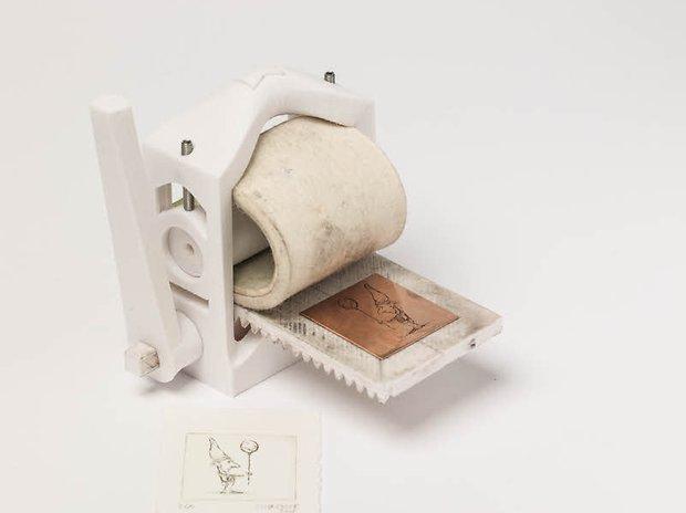 3D-gedruckte Druckerpresse