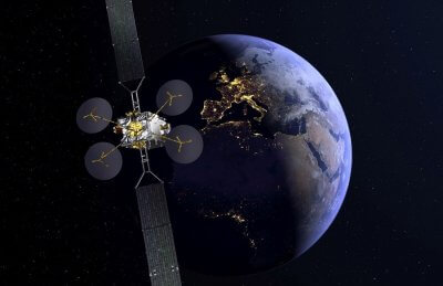 Satellit mit Teilen aus dem 3D-Drucker