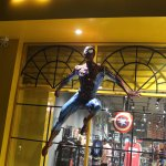 Spiderman auf der Ladenfront