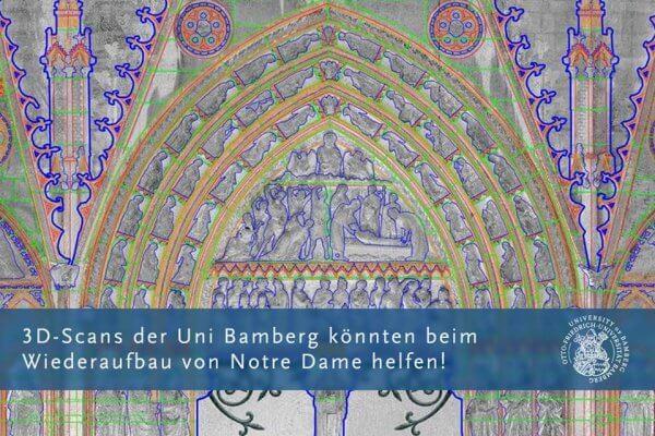 Ausschnitt Notre Dame Südportal als CAD-Umzeichnung