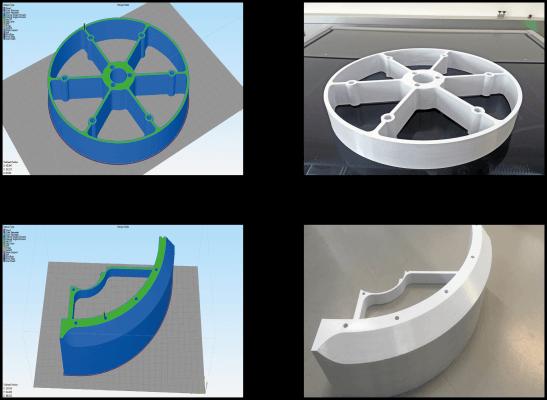 Einzelteile vom FSW-Kopf aus dem 3D-Drucker