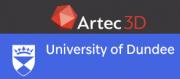 Artec und Universität Dundee Logo