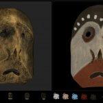 Artefakt Viewer Ansicht bemaltes und nicht bemaltes Artefakt