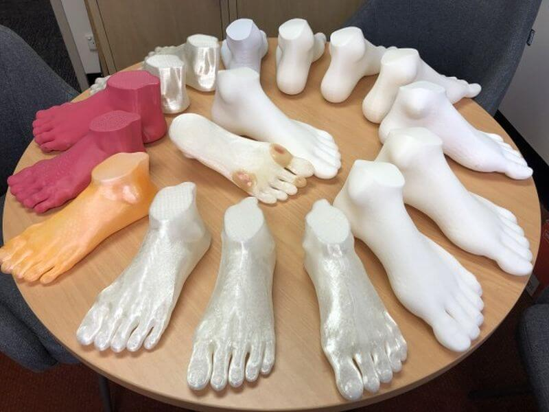 Fußmodelle aus dem 3D-Drucker
