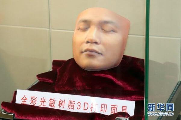 Gesicht eines Verstorbenen