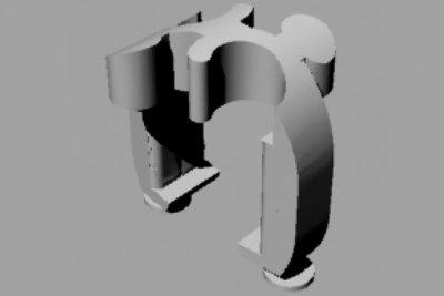 Technische Zeichnung für Bauteil von Lenkrad