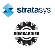 Stratasys und Bombardier Transportation Logo