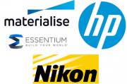 Logo Materialise, Nikon, HP und Essentium