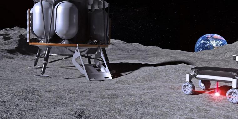 Rover auf dem Mond