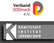 3D-Druck e.V. und Kunststoffinstitut Lüdenscheid Logo