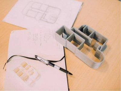 Architektenzeichnung für 3D-Druck-Häuser