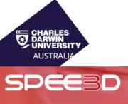 Charles Darwin University und SPEE3D Logo