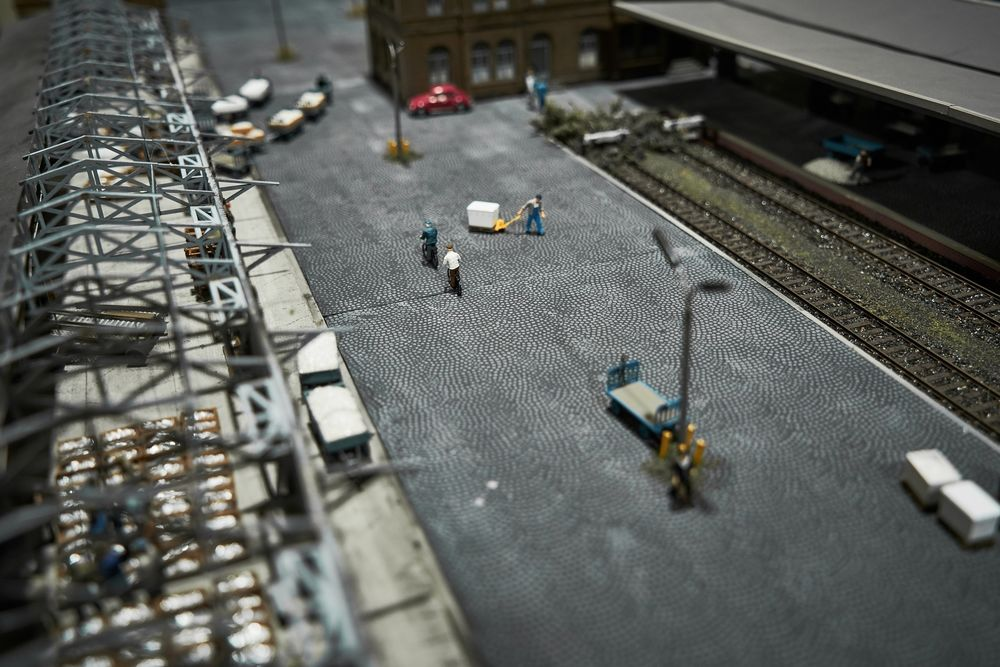 Modell eines Güterbahnhofs