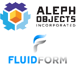 Aleph Objects und FluidForm Logo