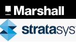 Marshall und Stratasys Logo