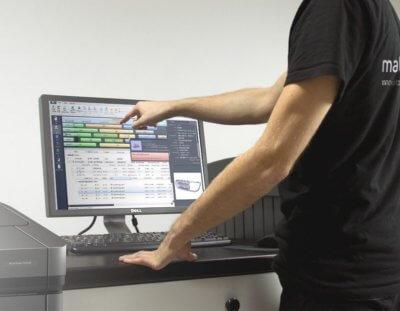 Bildschirm mit offener Software