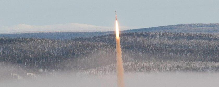 Maser 12 Rakete Start