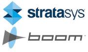 Boom Supersonic und Stratasys Logo