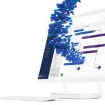 Bild eines Monitors in den Daten fließen