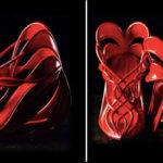 3D-gedruckte Schuhe in rot
