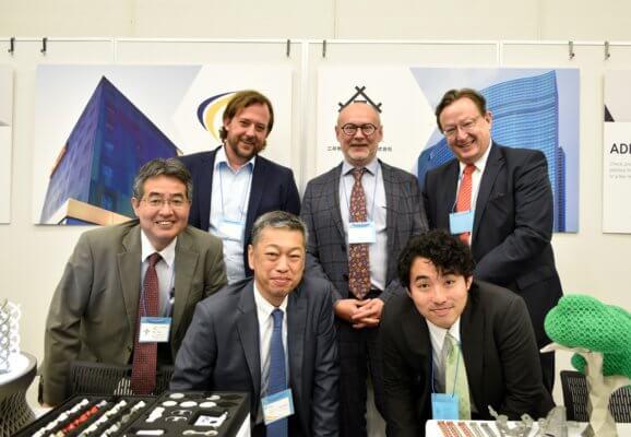 Gruppenfoto Mitarbeiter FIT AG und Mitsui Machine Tech