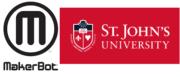 Logo der St. John's University und von MakerBot
