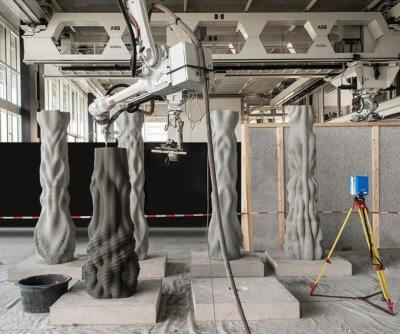 Herstellung Betonsäulen