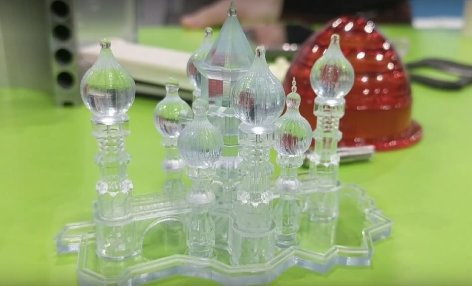 Aufwendiges und detailreiches 3D-Objekt