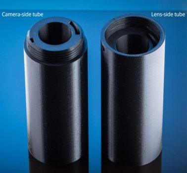 3D-gedrucktes Rohr (zweiteilig)