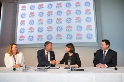 GE Additive und New South Wales Delegation bei der Unterzeichnung