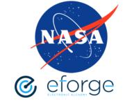 NASA und eForge Logo