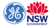 New South Wales Government und GE Additive Logo