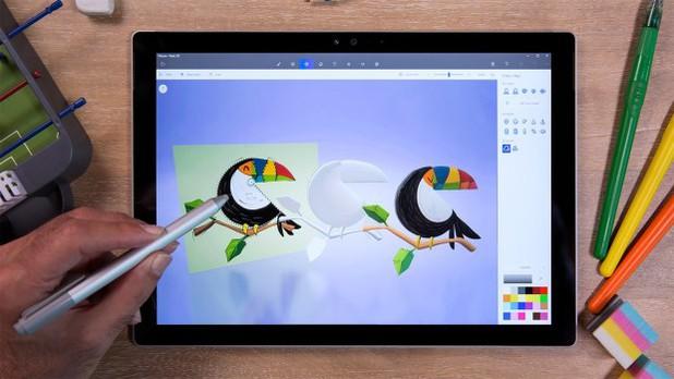 Tablet mit Paint 3D