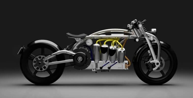 Seitenansicht Zeus V8 von Curtiss Motorcycles