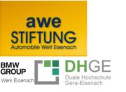 AWE Stiftung, DH GERA und BMW Logo