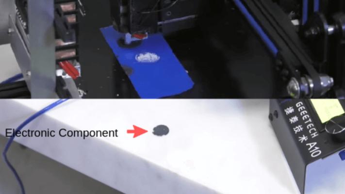Elektronische Komponente aus dem 3D-Drucker
