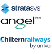 Logo Stratasys, Angel Train und Chiltern Railways