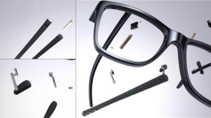 Detailansicht Brille Neuron4D