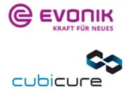 Logo Evonik und Cubicure