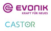 Castor Technologies und Evonik Logo