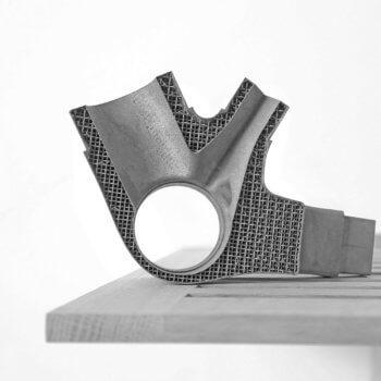 3D-gedruckte Titan-Fahrradkomponente