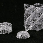 3D-gedruckte Glasobjekte