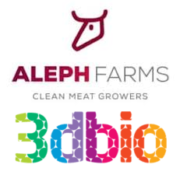 Aleph Farms und 3D Bioprinting Solutions Logo