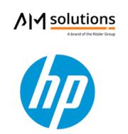 Logo AM solutions und HP