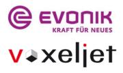 Evonik (Creavis) und Voxeljet Logo