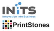 Logo von INITS und PrintStones