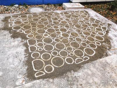Fertige 3D-gedruckte Betonfläche