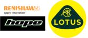 Renishaw, Hope Technology und Lotus Engineering Logos